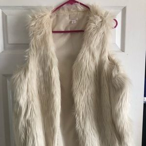 Cream fur jacket